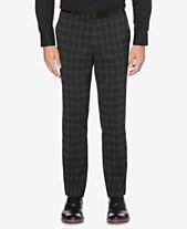 55d8514ff3 Perry Ellis Men s Portfolio Slim-Fit Stretch Medium Windowpane Plaid Dress  Pants