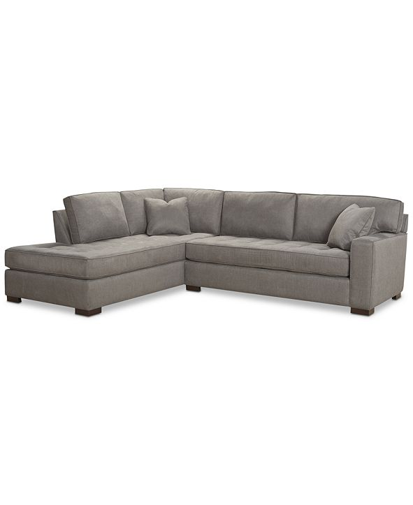 """Furniture CLOSEOUT! Dartford 114"""" 2-Pc. Fabric Sectional, Created for Macy's"""