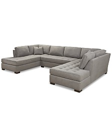 """Dartford 148"""" 3-Pc. Fabric Sectional, Created for Macy's"""