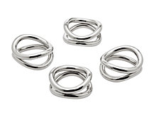 Godinger Ellipse Napkin Rings, Set of 4