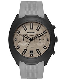 Men's Chronograph Tumbler Gray Silicone Strap Watch 48mm