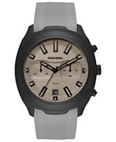 09e7a3c104d2 Diesel Men s Chronograph Tumbler Gray Silicone Strap Watch 48mm