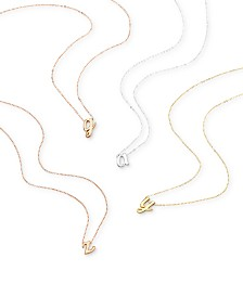 Unwritten Scripted Initial Pendant Necklace Collection