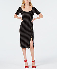 Sequin Hearts Juniors' Striped Midi Dress