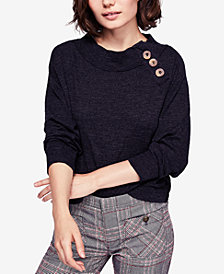 Free People Don't Forget Me Button-Detail Top
