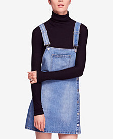 Free People Louise Cotton Denim Skirtall