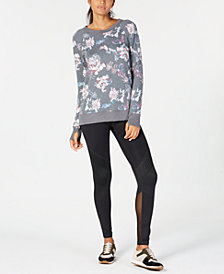 Ideology Printed Lattice-Back Top & Mesh-Trimmed Leggings, Created for Macy's
