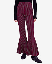 Free People Mari Ponté-Knit Flared Pants
