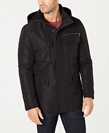 Men's Full-Zip Hooded Overcoat