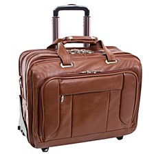 """West Town 15"""" Fly-Through Checkpoint-Friendly Patented Detachable -Wheeled Laptop Briefcase"""