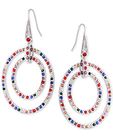 GUESS Multicolor Pavé Orbital Drop Earrings