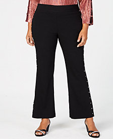 JM Collection Plus Size Side-Stud Pants, Created for Macy's