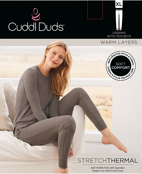 3a20a0591b2b Cuddl Duds Stretch Waffle Thermal Leggings & Reviews - Handbags ...