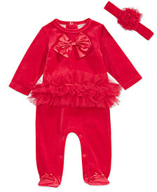 First Impressions Baby Girls 2-Pc. Ballerina Footed Coverall & Headband Set, Created for Macy's
