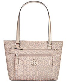 Giani Bernini Circle Signature Lurex Tote, Created for Macy's