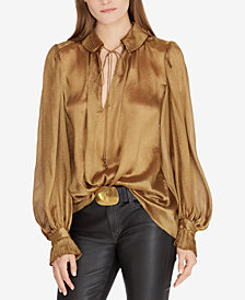 Polo Ralph Lauren Metallic Crinkle Blouse