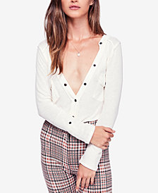 Free People Starlight Exposed-Seam Cotton Henley