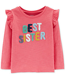 Carter's Toddler Girls Ruffle-Trim Cotton T-Shirt