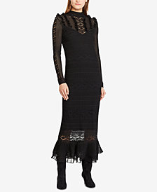 Polo Ralph Lauren Pointelle-Stitched Midi Dress