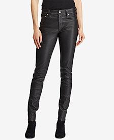 Polo Ralph Lauren Leather Skinny Pants