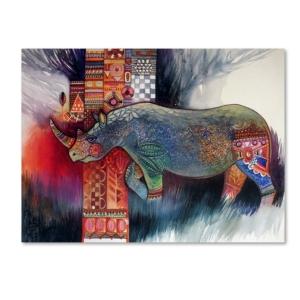 Oxana Ziaka 'Rhino' Canvas...