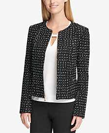 Tommy Hilfiger Tweed Peplum Jacket