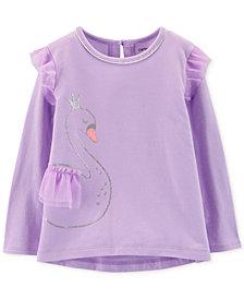 Carter's Toddler Girls Glitter Swan Tulle Top
