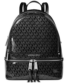 MICHAEL Michael Kors Signature Glossy Rhea Zip Backpack, Created for Macy's
