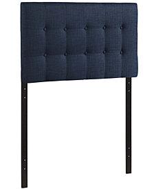 Emily Twin Upholstered Fabric Headboard