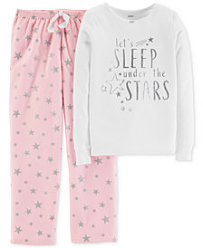 Carter's Little & Big Girls 2-Pc. Under The Stars Pajama Set