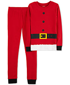 Carter's Little Boys Red Santa Suit Cotton Pajamas
