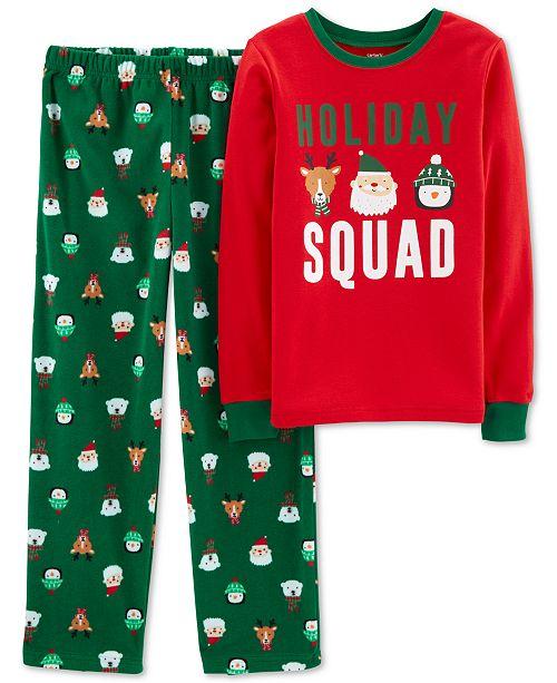 fd4b42373 Carter's Little & Big Boys Fleece Holiday Squad Pajamas & Reviews ...