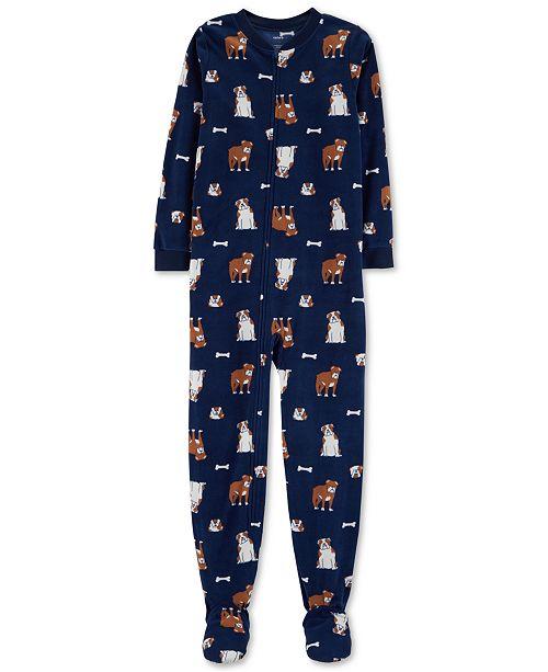 3a5646e54 Carter s Little   Big Boys Dog-Print Footed Fleece Pajamas   Reviews ...