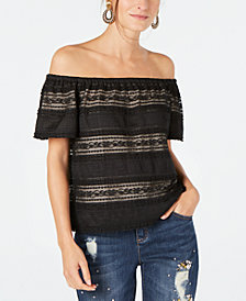 I.N.C. Lace Off-The-Shoulder Top, Created for Macy's