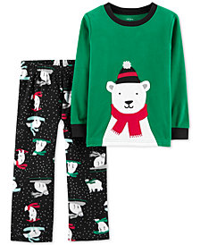Carter's Toddler Boys 2-Pc. Sledding Bear Pajamas