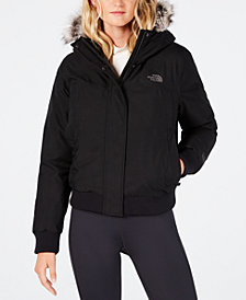 The North Face Nebula Bomber Faux-Fur-Trim Jacket