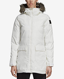 adidas Xploric Water-Repellent Faux-Fur Trim Parka