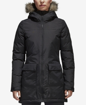 Adidas Originals Adidas Xploric Water-Repellent Faux-Fur Trim Parka In Black 2f067c27c966d