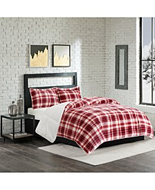 Reversible Micro Velvet and Sherpa Down Alternative Pillows and Comforters