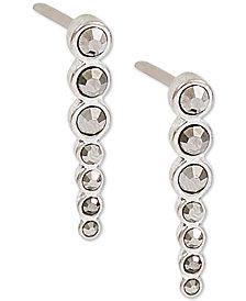Lucky Brand Silver-Tone Pavé Ear Climber Earrings