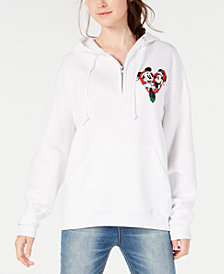 Love Tribe Juniors' Mickey & Minnie Christmas Sweatshirt
