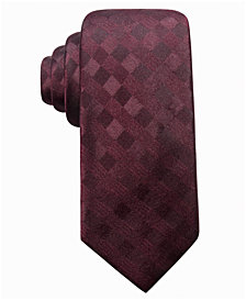 Ryan Seacrest Distinction™ Men's San Leo Gingham Slim Silk Tie, Created for Macy's