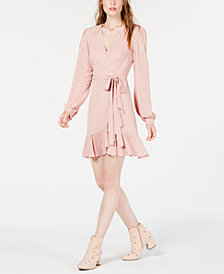 LEYDEN Ruffled Wrap Dress