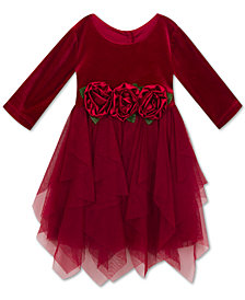 Rare Editions Little Girls Velvet Party Dress
