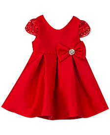 Rare Editions Little Girls Satin Fit & Flare Party Dress