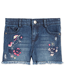 Epic Threads Little Girls Embroidered Unicorn Denim Shorts, Created for Macy's