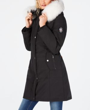 Image of 1 Madison Expedition Fox-Fur-Trim Hooded Parka