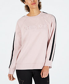 Calvin Klein Performance Logo Striped Sweatshirt