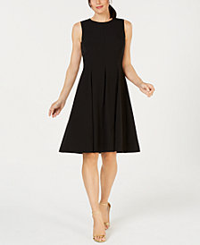 Kasper Crew-Neck Sleeveless Fit & Flare Dress