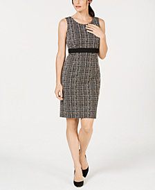 Kasper Tweed Sheath Dress